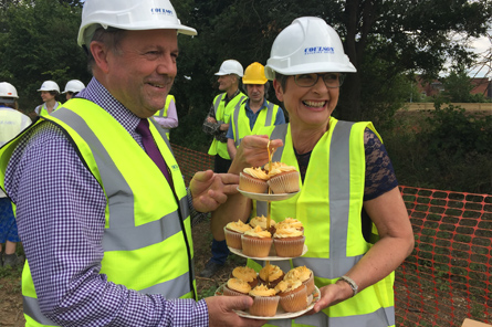 Construction gets off to a sweet start on Marmalade Lane as future residents presented the Coulson building team with marmalade cakes to wish them well.